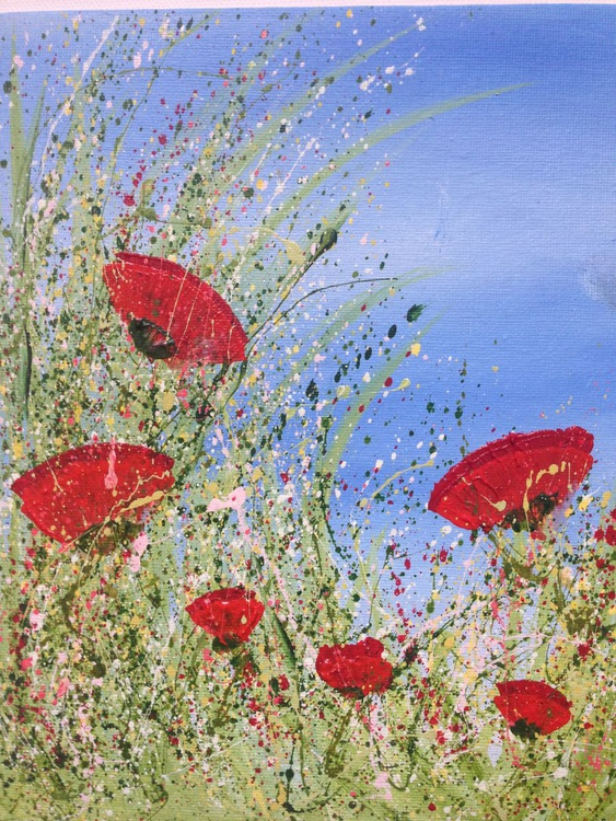 """Wind Swept Poppies #1"" - Image 0"