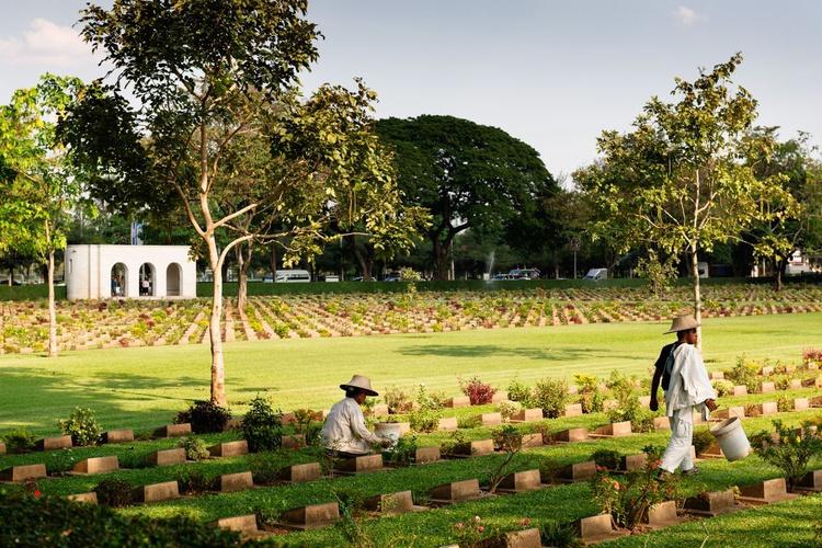 The Allied War Cemetery, Kanchanaburi. (119x84cm) - Image 0