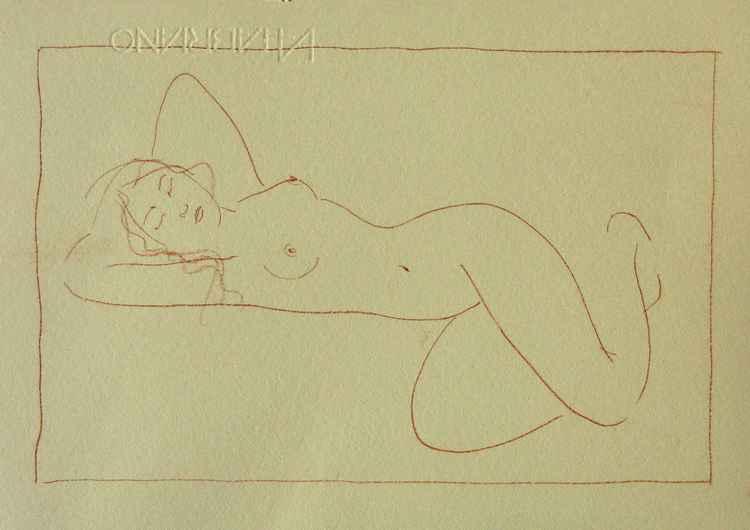 Nude #A513 - sketch -