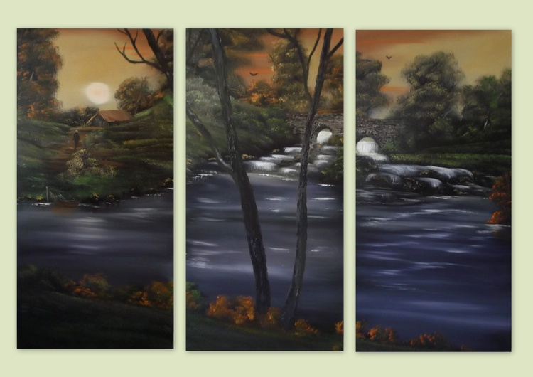 Rural and rustic triptych. - Image 0
