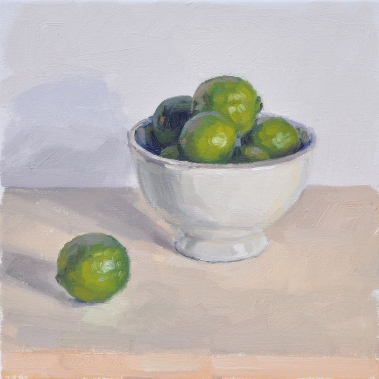 Limes in a bowl - Image 0