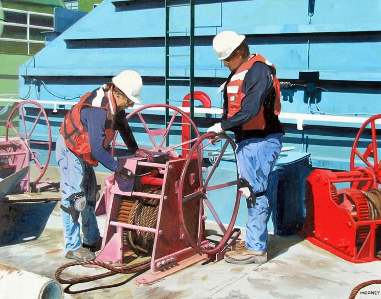 Barge Workers II - Image 0