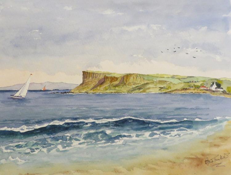 Sailing off Fair Head on the Antrim Coast - Image 0