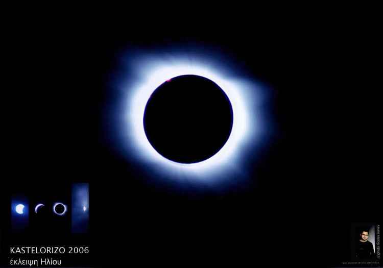 Eclipse Total in Kastelorizo island Greece -
