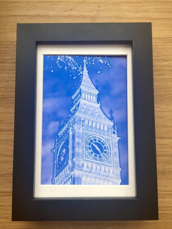 BIG BEN BLUE NEGATIVE  MINI ART 2/200 - Image 0