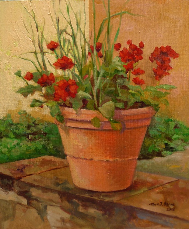 Terracotta and Geraniums - Image 0
