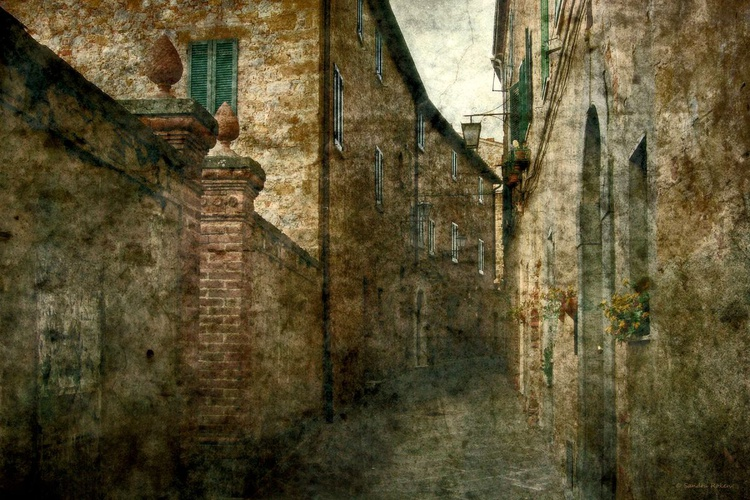 An Alley at Tuscany - Canvas 75 x 50 cm - Image 0