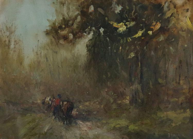 Landscape Original oil Painting, Impressionism, Signed, One of a Kind - Image 0