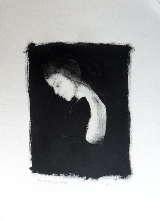Woman in black - Image 0