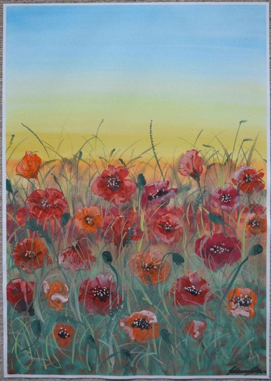Poppy Field - Large 42 x 60 cm (A2) - Image 0