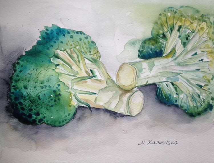 Still life with broccoli - Image 0