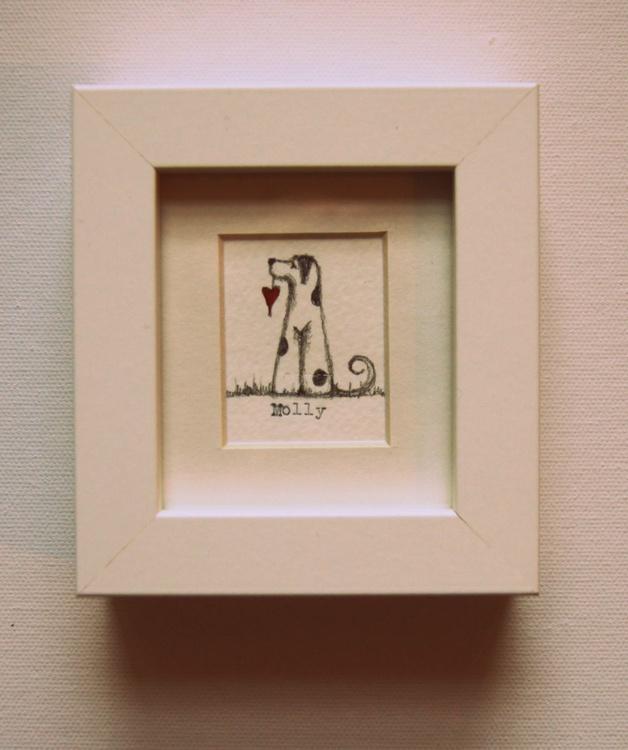 Framed Molly I (miniature).. - Image 0