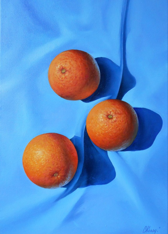 Oranges. Still life / Oil on canvas - Image 0