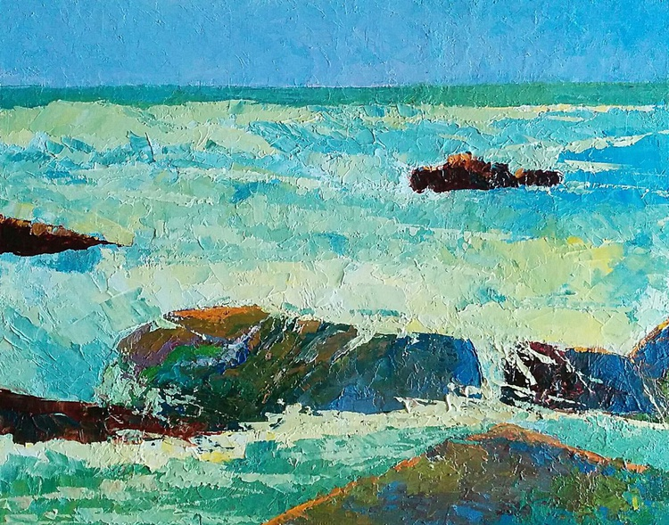 """Seascape  sunlight """"A touch of warmth"""" - Image 0"""