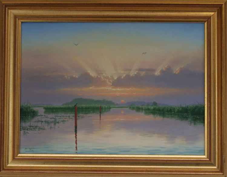 Sunrise on the upper Thurne -