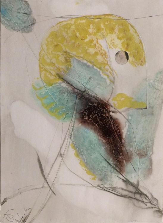 Prolegomena, Acrylic on paper #51, 29x42 cm - Image 0