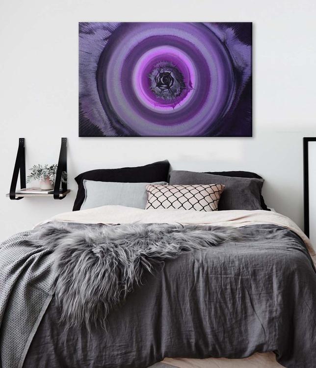 PURPLE HAZE  -  Acrylic Abstract -  FUNKY CHIC 80 x 50cm - Image 0