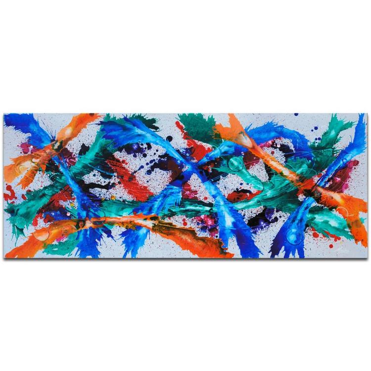 Mendo Vasilevski 'Color Dance' Contemporary Metal Wall Art Giclee - Image 0