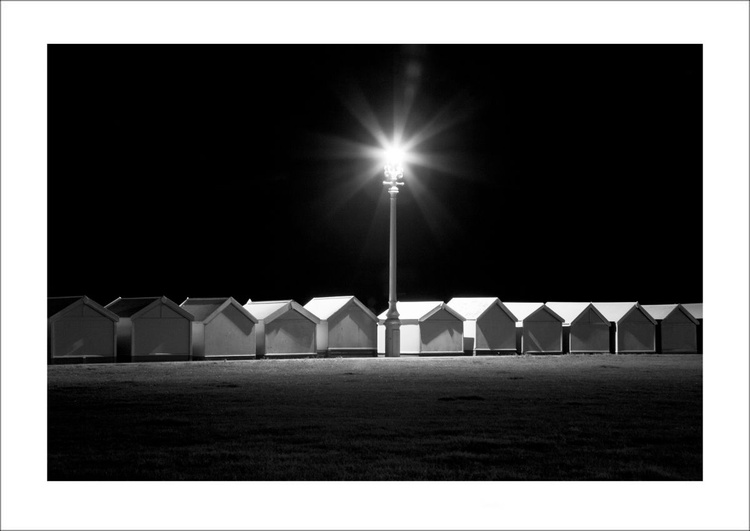 Beach Huts at Night, Hove, Sussex - Image 0