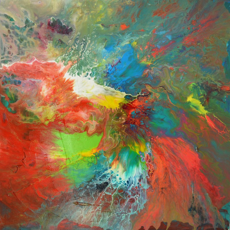 Release the Pressure - Abstract Painting - Ready to Hang, Hotel and Restaurant Wall Decoration - Image 0