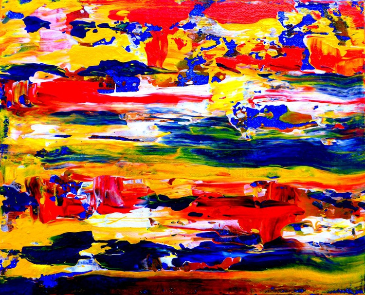 Abstract painting - a tribute to Gerhard Richter - Image 0