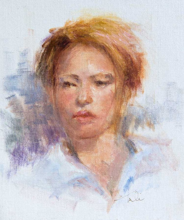 Kerida - impressionist portrait of a young woman - Image 0