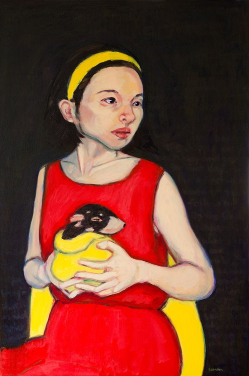 Girl with Baby Devil - Image 0