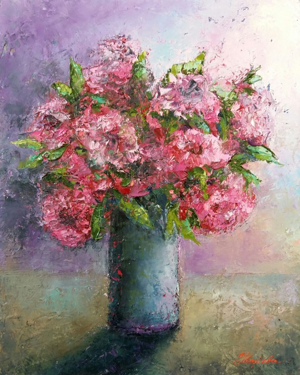 Roses, 40x50 cm, original artwork, FREE SHIPPING - Image 0