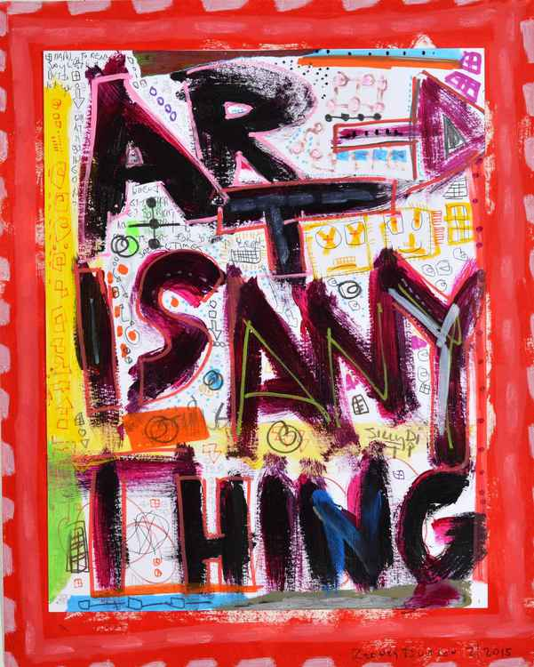 Art is Anything (Red) -