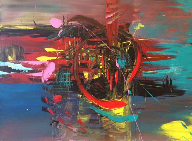 Smash- - Abstract Acrylic Painting , 2013