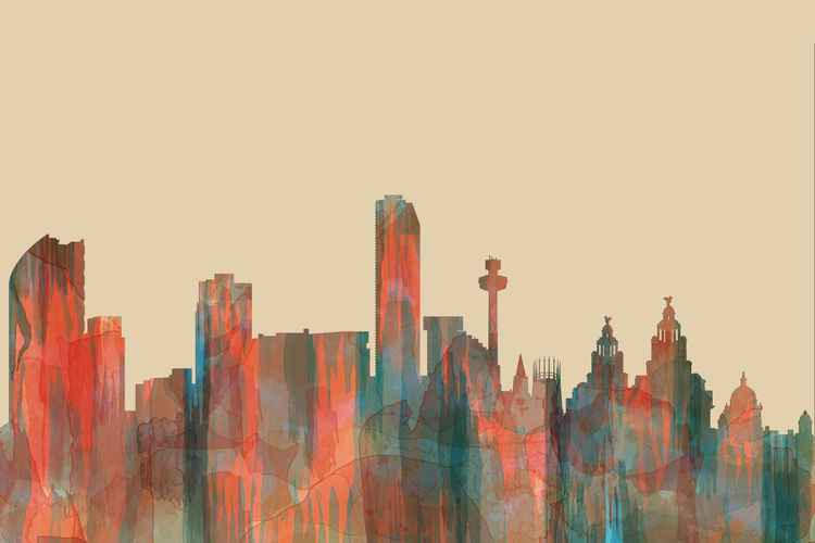 Liverpool England Skyline - Navaho -