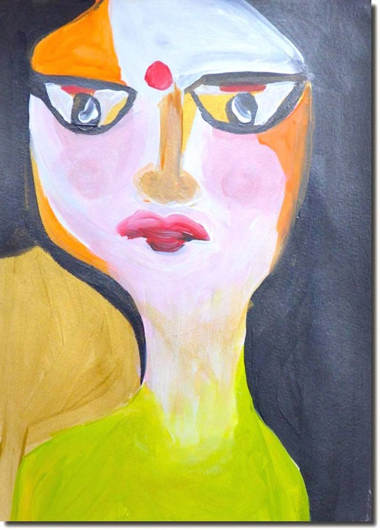 Women Face portrait - Abstract - Lost somewhere - Image 0