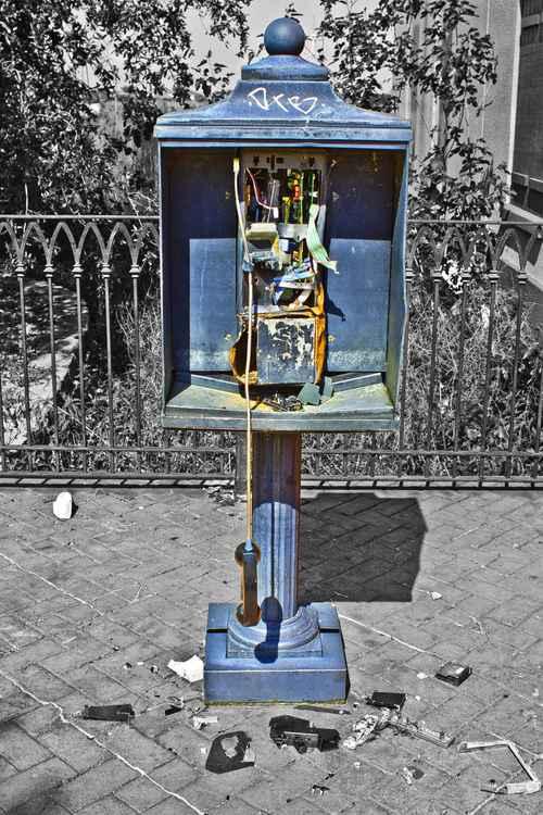 TOTALLED TELEPHONE - C Type Fuji Lustre Print 16 x 24 -