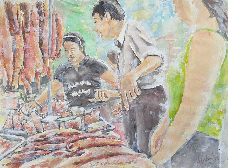 Roast Duck at the Market - Image 0