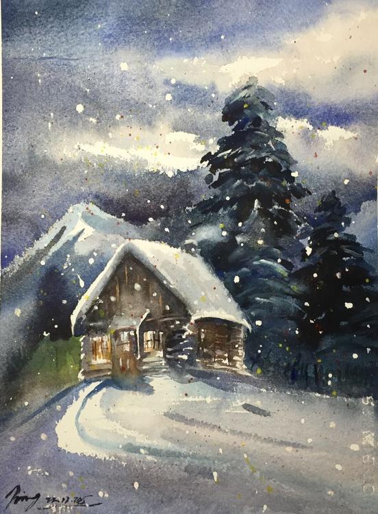 Snowy Cabin 2 - Image 0