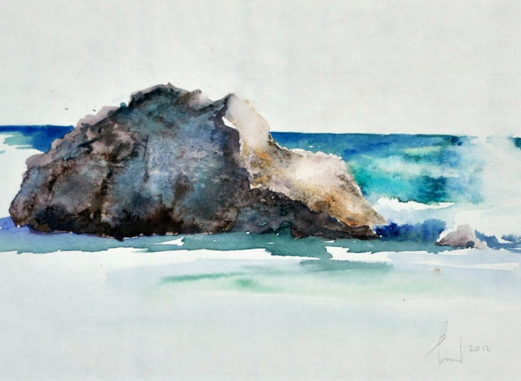 SEE and SEE ROCK original watercolour 38x28 - Image 0