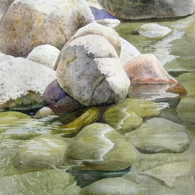 """Rocks & Water, 2017"" by Olga Beliaeva"