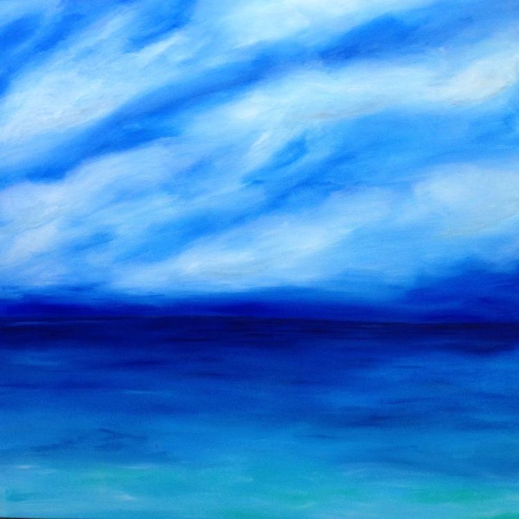 """""""Ocean Solitude"""" 100x100 - Image 0"""