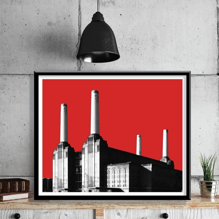 London Art Print - Battersea Power Station - Image 0
