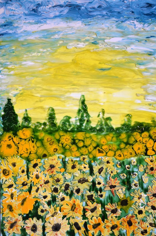 Morning at sunflower field - Image 0