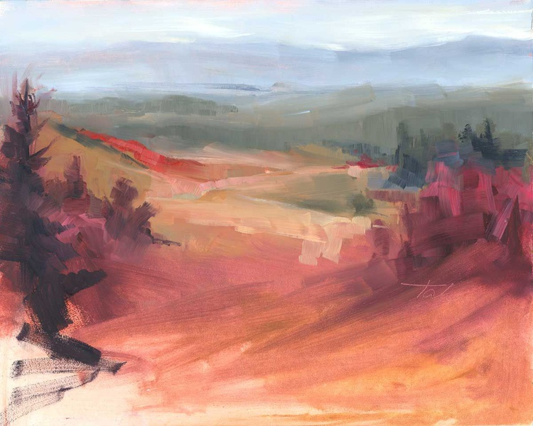 Pleasant View - plein air oil painting - Image 0