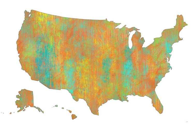 USA Map 1 -