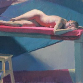 """Reclining Nude, 2011"" by Snehal Page"