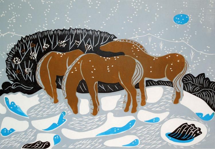 Three wise Horses - Image 0