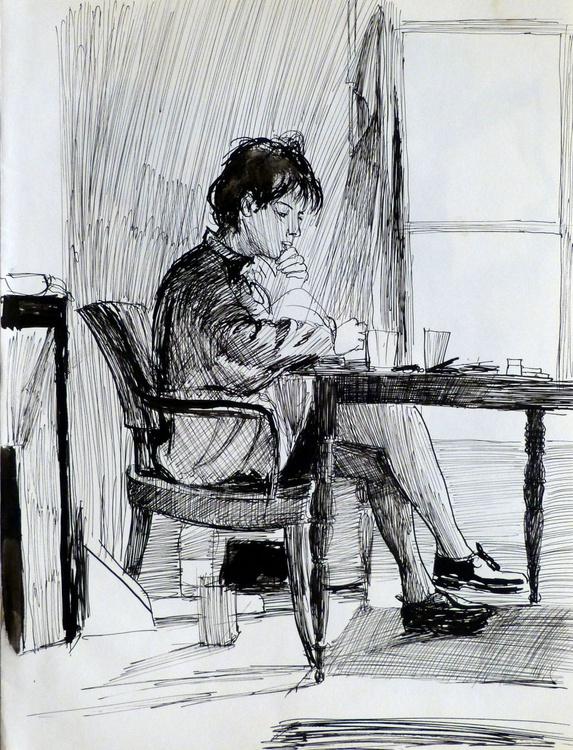 Student 9, 24x31 cm - Image 0