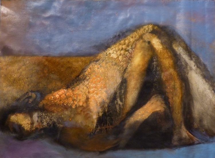 Nude Under The Blanket, oil on canvas, 81x60 cm - Image 0