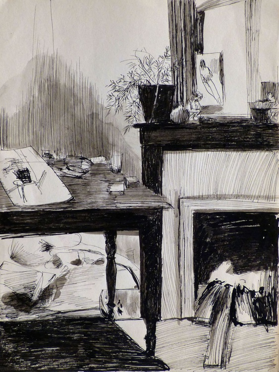 Still life: Fireplace, 24x31 cm - Image 0