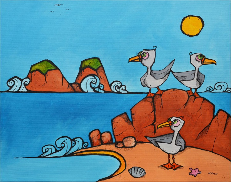 Seagulls on the beach - Image 0