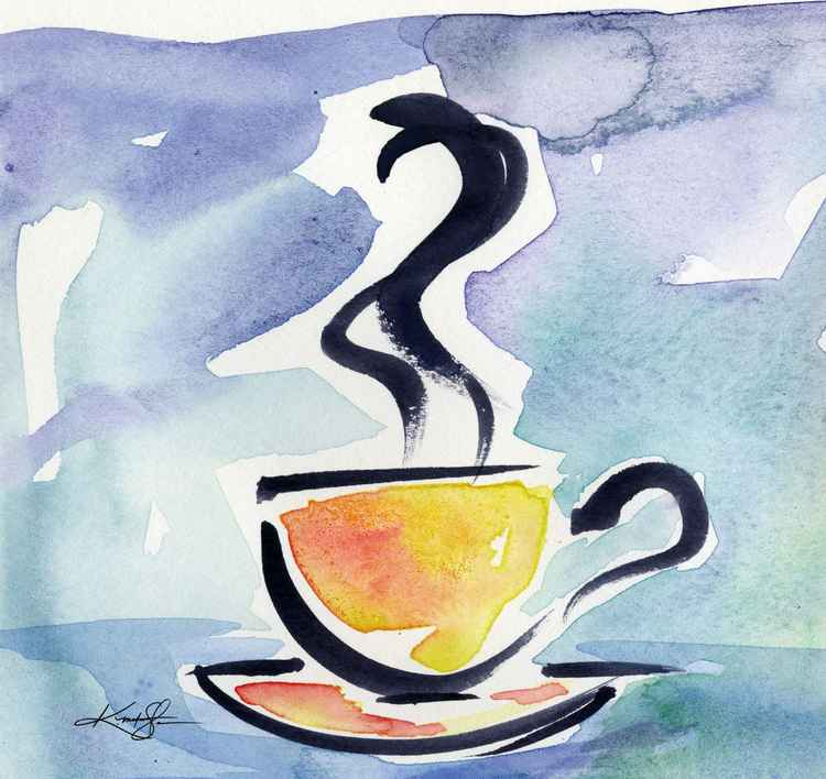 Coffee Dreams No 12 - Original Watercolor -