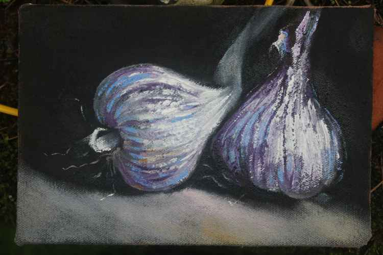 Two garlic bulbs (Day#28/365 Postcards from Pembrokeshire) -